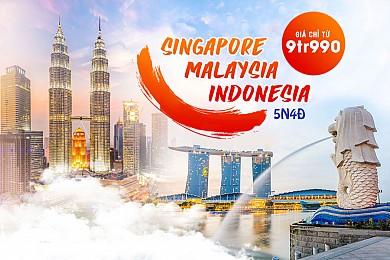 Hành Trình Tham Quan Singapore Indonesia Malaysia 5 Ngày 4 Đêm - Bay Vietjet & Malido Airlines
