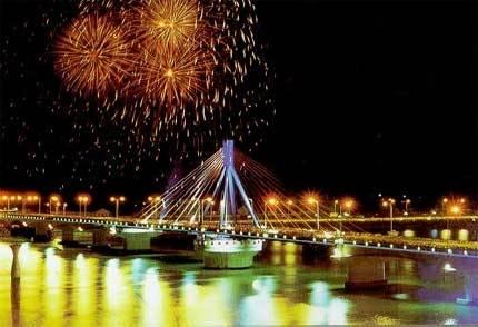Đường hoa tết Đà Nẵng cho lần đầu tiên 2013,duong hoa tet da nang cho lan dau tien 2013
