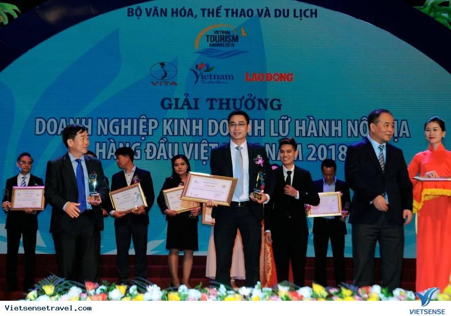 Giải thưởng Du lịch Việt Nam 2018, VietSense Travel được vinh danh,giai thuong du lich viet nam 2018 vietsense travel duoc vinh danh